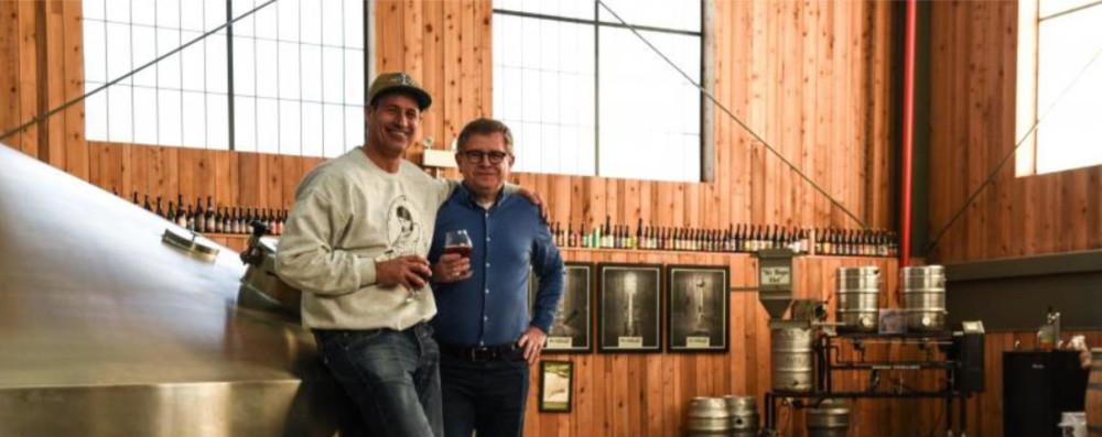 Sam Calagione (Dogfish Head Brewery) och Rudi Ghequire (Rodenbach)