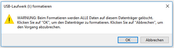 Warnung von Windows Explorer
