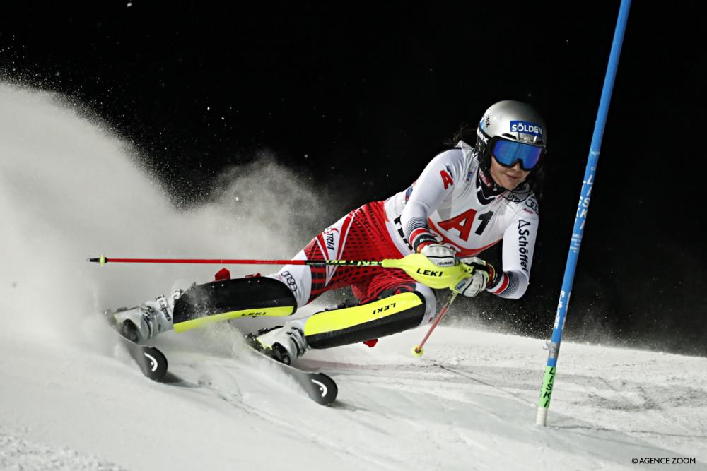 Anna Swenn-Larsson second in the Night Slalom in Flachau ...