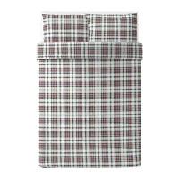MOSSRUTA  Quilt cover and 2 pillowcases Multicolour/check £25
