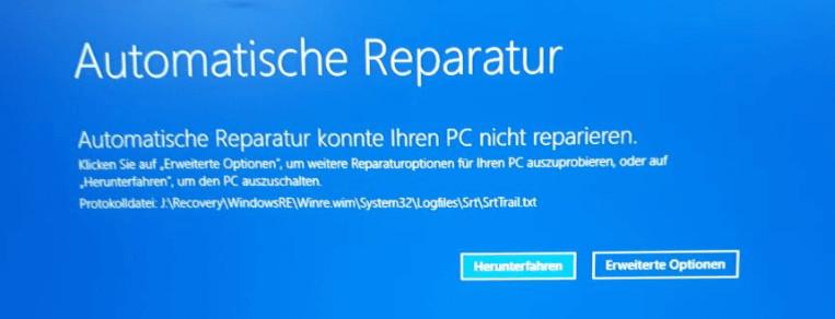 Windows 10 Automatische Reparatur