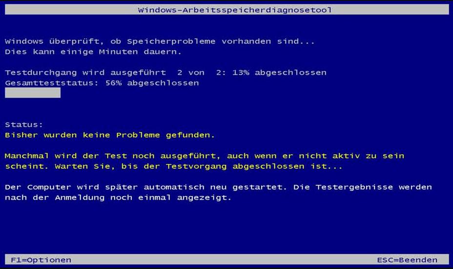 Windows-Arbeitsspeicherdiagnosetool