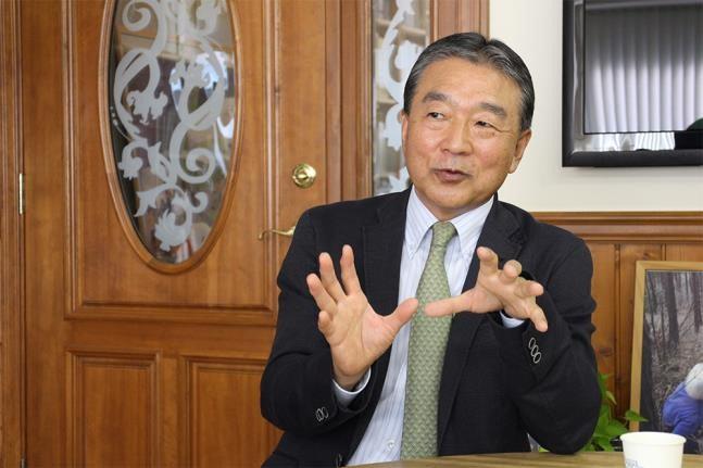 Mr. Eiju Hangai, Representative Director of Asubito Fukushima