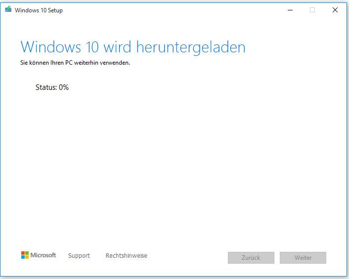Windows 10 auf Ihr ausgewähltes USB