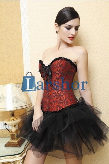 Satijn push-up shapewear overbust corset bustier