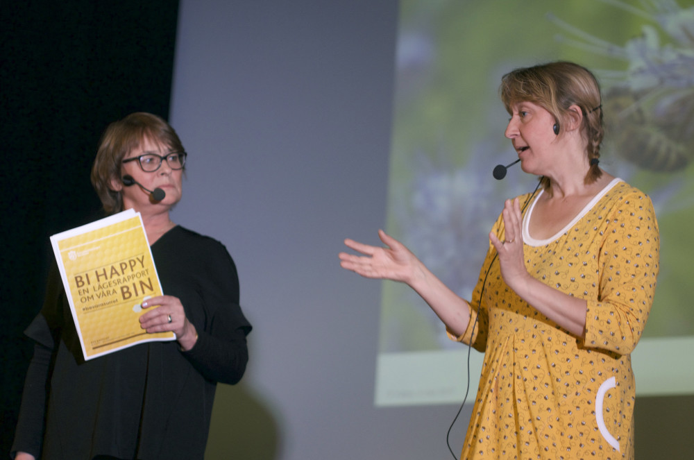 Louise Ungerth från KfS och Lotta Fabricius Kristiansen från Svenska Bin.