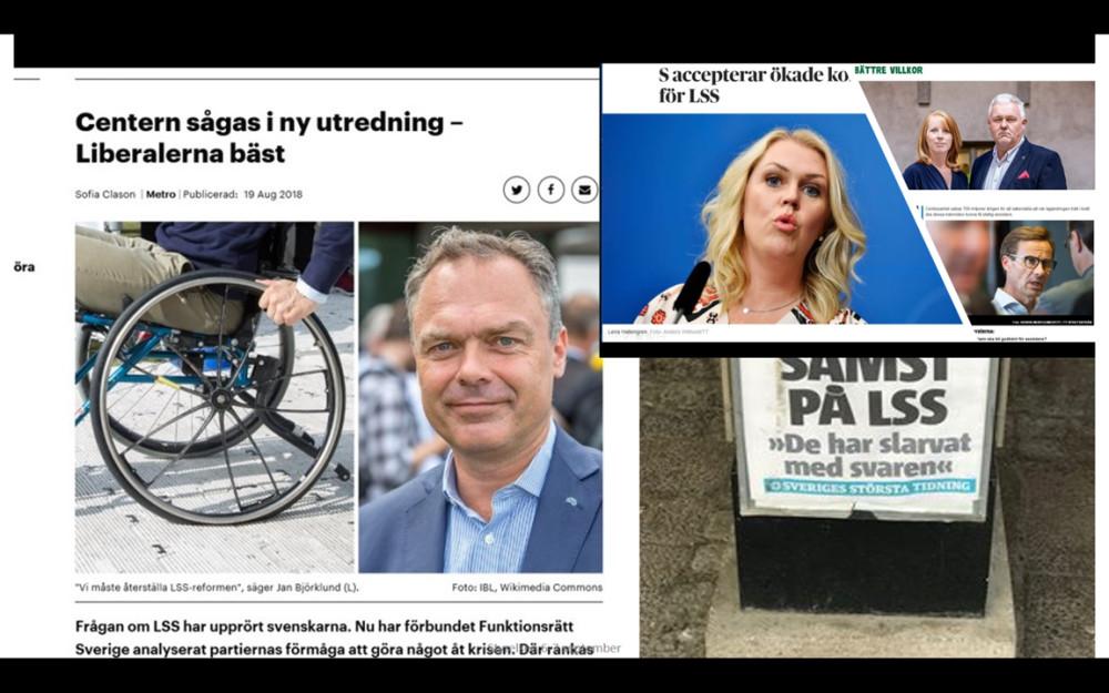 Coallge med bilder på Jan Björklund, Annie Lööf, Anders W Jonsson, Lena Hallengren.