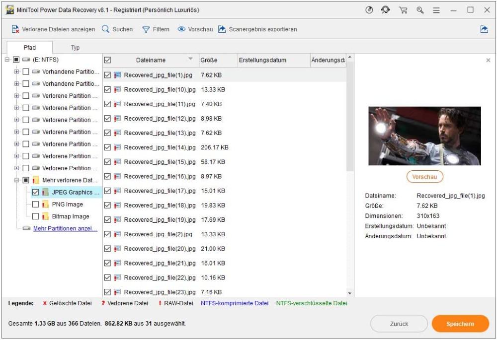 Benötigte Dateien speichern