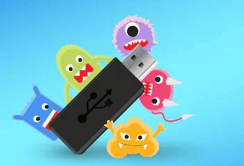 Der Virus hat einen USB-Stick angegriffen.