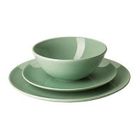 FÄRGRIK  18-piece service Light green £20