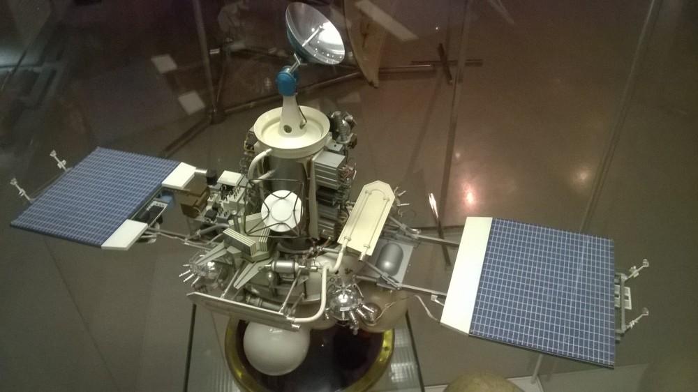 Phobosmodell vid rymdmuseum i Moskva. Foto: Bekhruzbek Ochilov