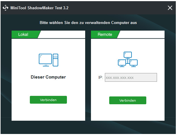 Testversion von ShadowMaker