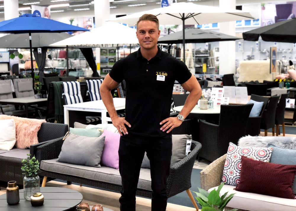 Christopher Nilsson, butikschef i Luleå