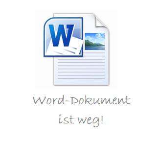 kein Backup des Word-Dokuments