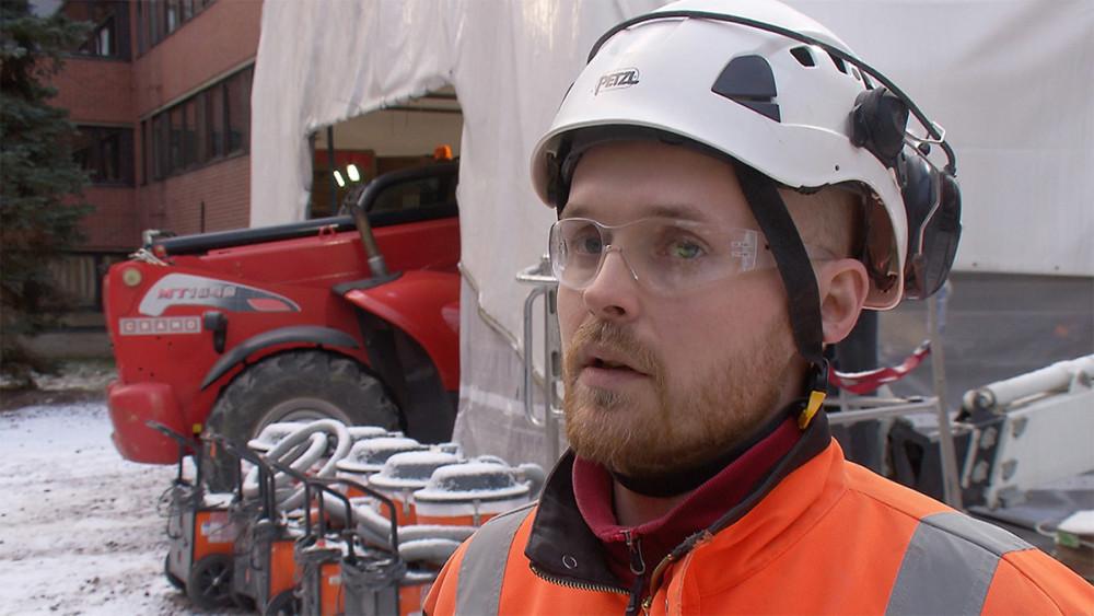 Logistiikan työnjohtaja Petter Breilin.
