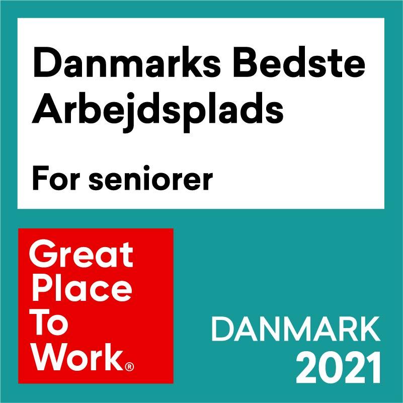 Danmarks Bedste Arbejdspladser for seniorer 2021