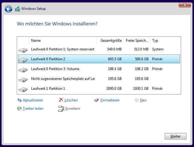 Windows neu installieren
