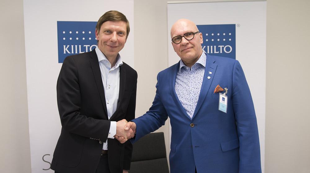 Tomi Takala (vas.) ja Petri Hyvönen
