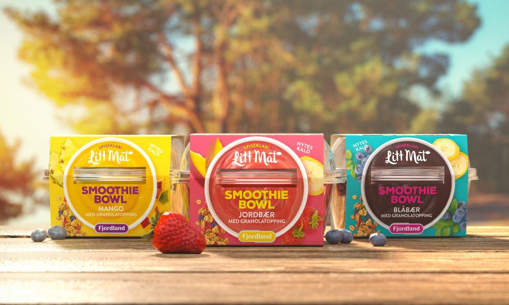 Smoothie Bowl lanseres i tre varianter; Rød: Jordbær, mango, appelsin og banan, Blå: Blåbær, jordbær, eple og banan, og Gul: Mango, ananas, banan og ingefær.
