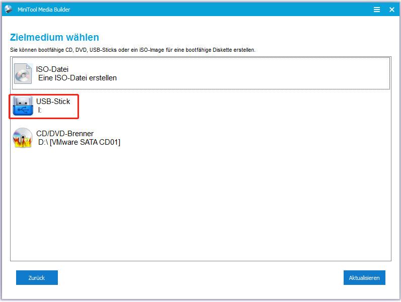 Erstellen Sie einen bootfähigen USB-Laufwerk von ISO