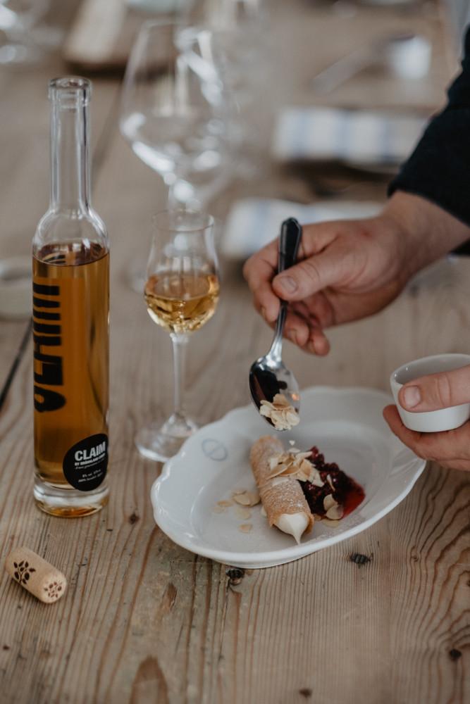 Claim by Brännland Cider till lätta desserter. Fotograf: Matilda Audas Björklund