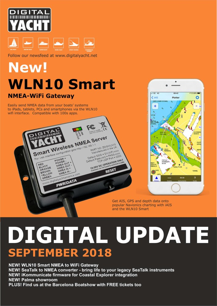 Digital Yacht September 2018 Update