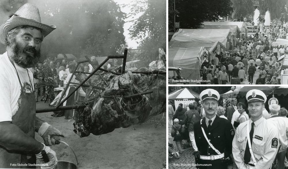 Matfestivalen firar 30 år i år. Bilder ut Skövde Stadsmuseums arkiv.