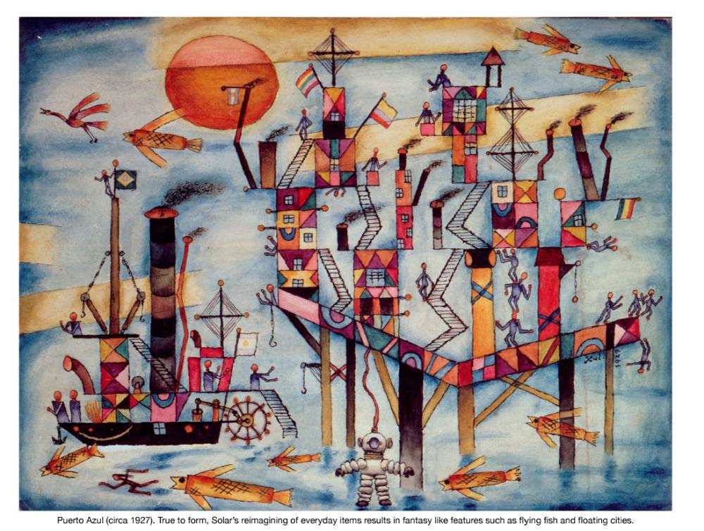 Obra de Xul Solar, artista argentino.