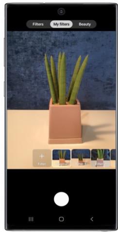 Sådan anvendes Custom Filter i Galaxy Note10
