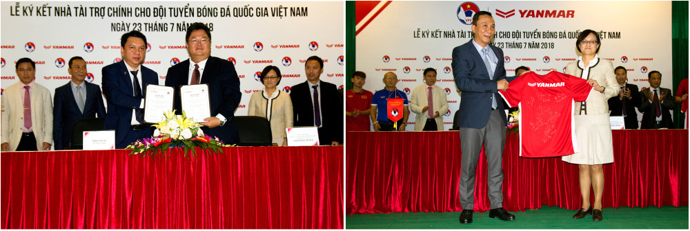 Yanmar Renewals Sponsorship of the Vietnamese National Football Team