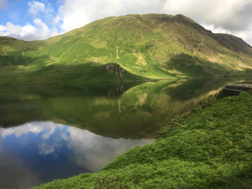 The mirrored mountains of Crummock Water