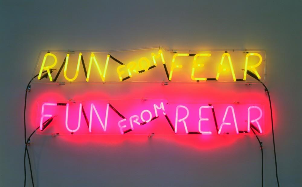 Bruce Neuman, Run from Fear, Fun from Rear, 1972. © Bruce Nauman / BONO.