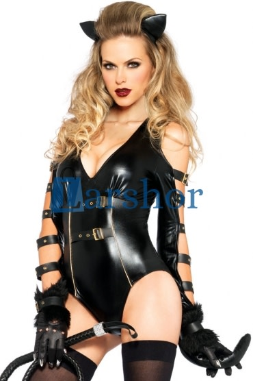 Sexy fetish katachtig dames kostuum