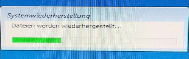 Dateien werden wiederhergestellt