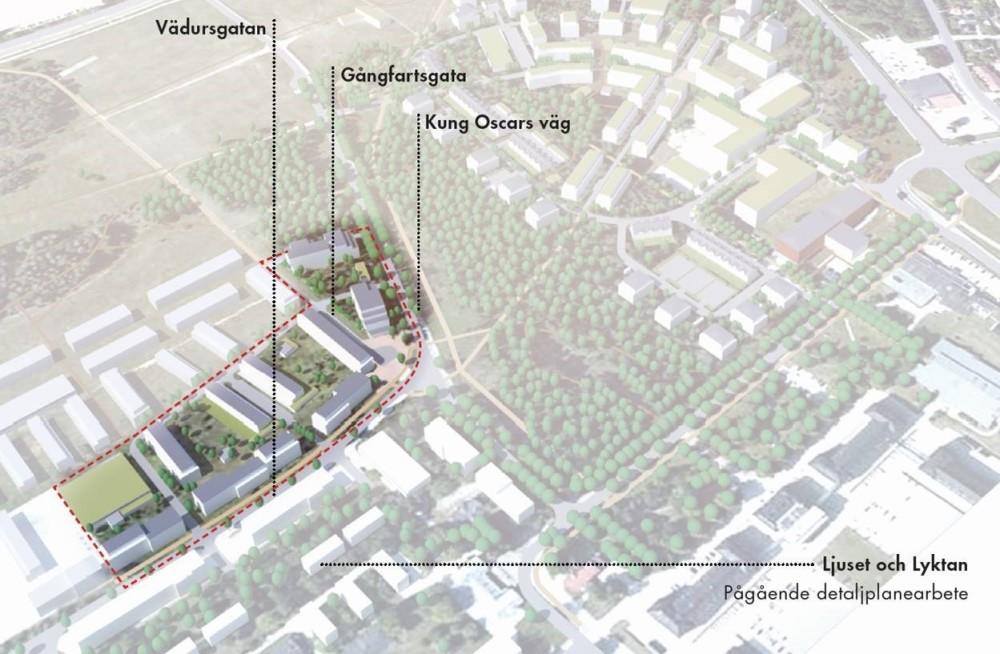 Översiktsbild som visar GotlandsHems plan över Visborgsområdet.