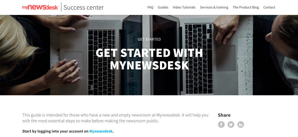 Mynewsdesk Success Center
