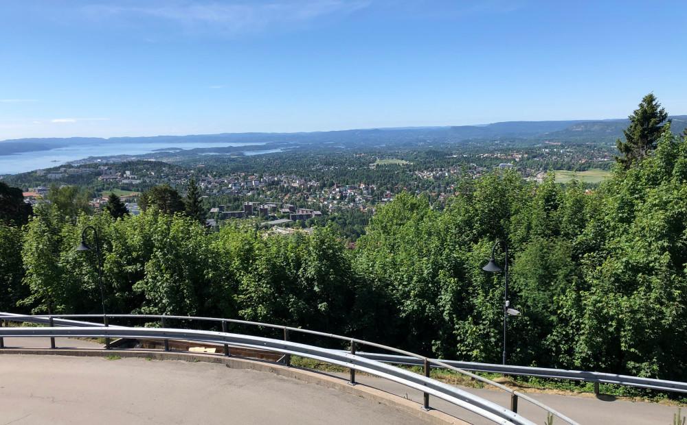 Utsikt fra Holmenkollen Park Hotel
