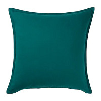 GURLI  Cushion cover Dark green £1.75