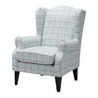 TORSEBRO  Wing chair Light grey check £375