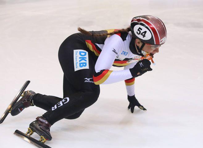 Bianca Walter, Mitglied der deutschen Nationalmannschaft im Short Track