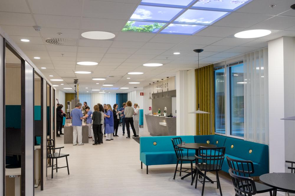 Väntrum och reception vid Akademiskt specialistcentrum