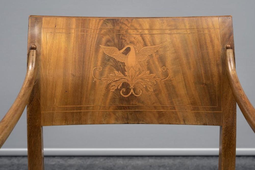 «Christian August» armstol i empirestil (detalj), udatert, privat eier.