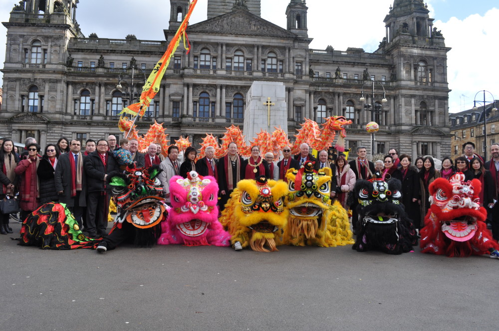 Dragon Dancers on display at George Square