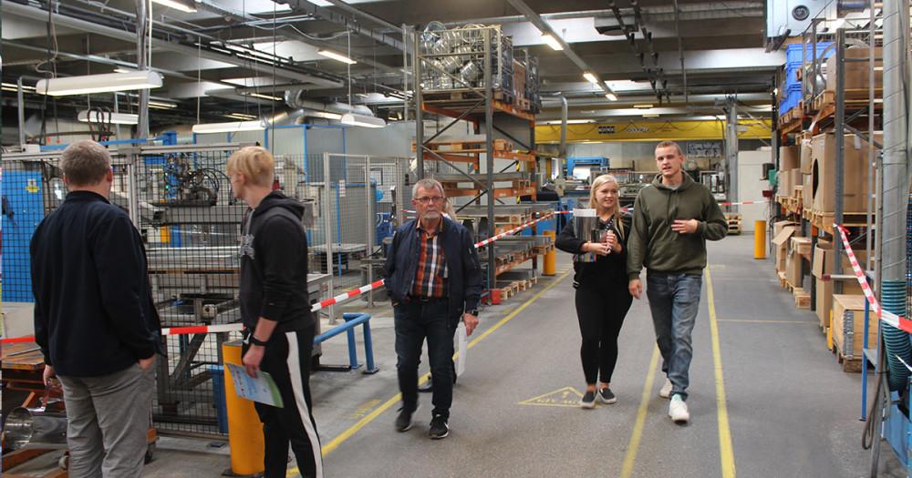 Skattejagt på fabrikken til Lindab Familiedag 2018