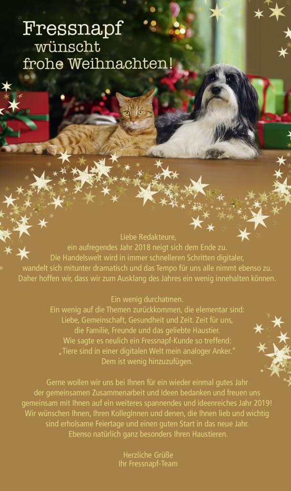 Weihnachten 2019 Nrw.Fressnapf Wünscht Tierisch Gute Weihnachten Und Ein Gesundes