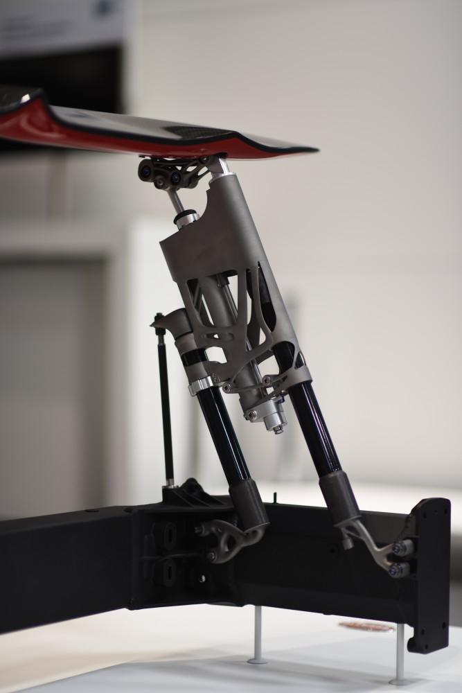 Abb. 3: Heckflügelmechanik additiv auf einer SLM®500 gefertigt