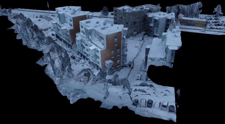 3D-kuvamallintaminen helpottaa työmaan hahmottamista.