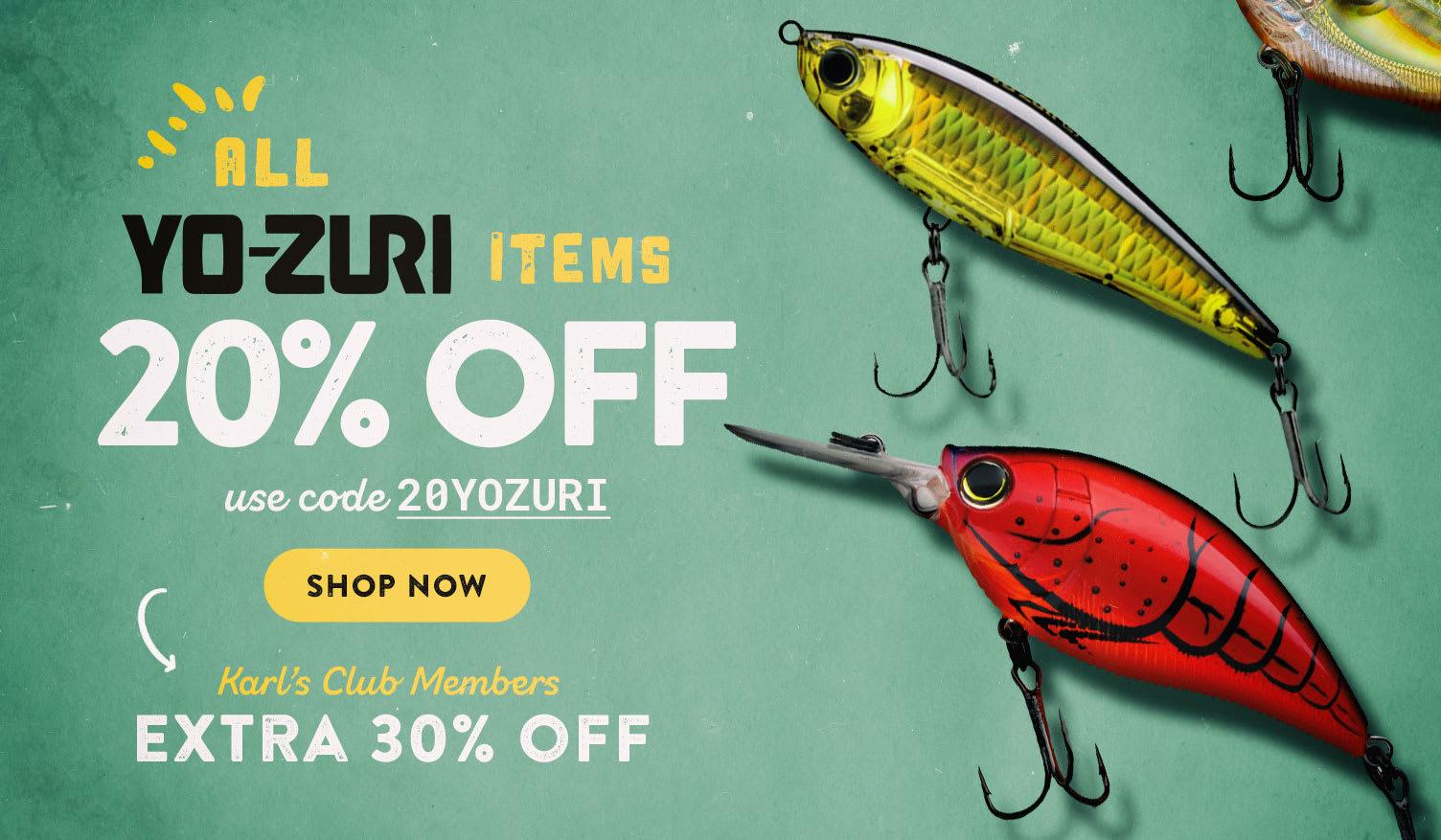 20% off Yo-Zuri Items