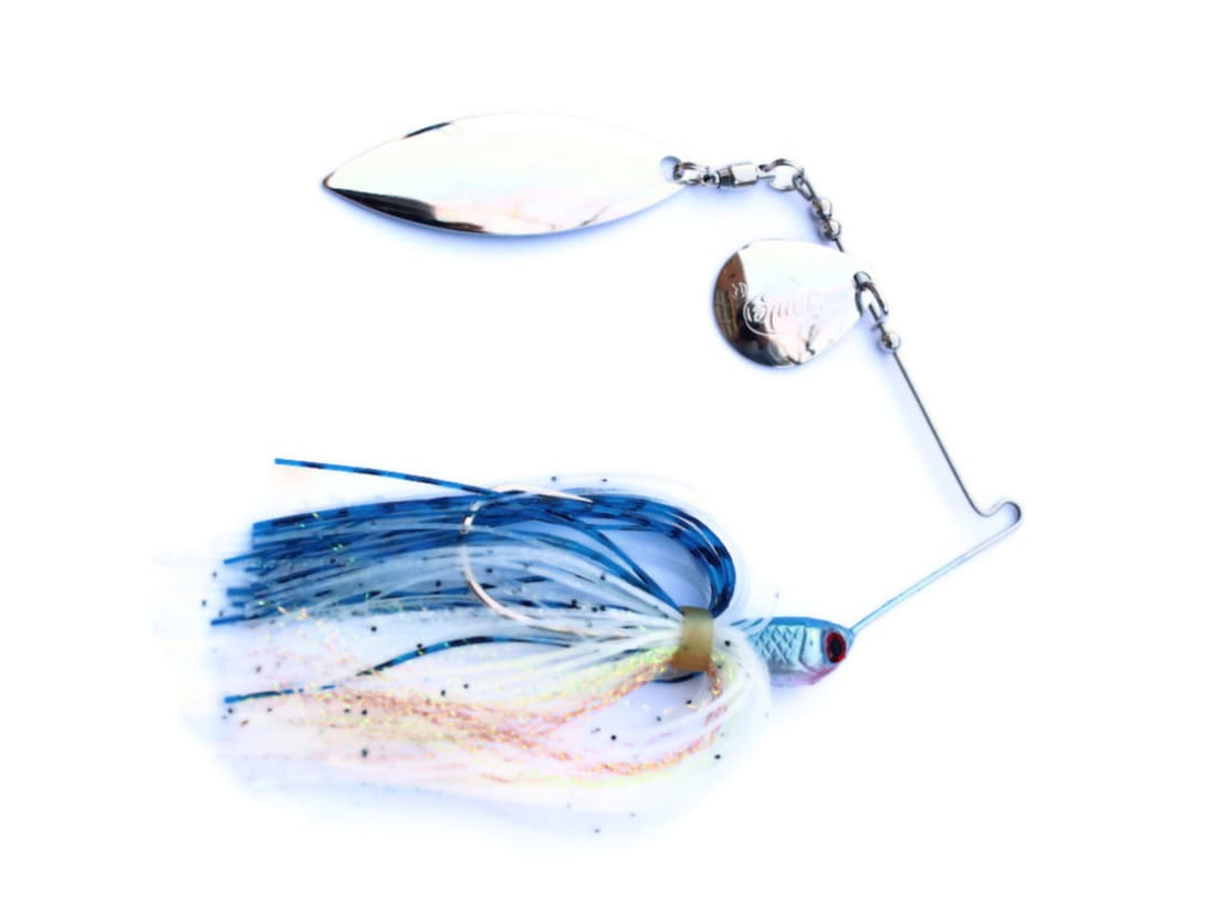 Blue Black Shad Chartreuse Accent