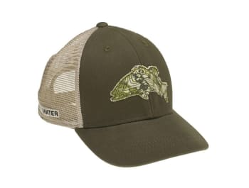 Topo Camo Bass Mesh Snapback Hat